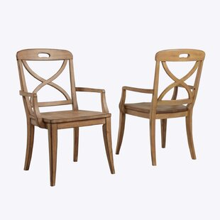 Millbrook X-Back Solid Wood Dining Chair (Set of 2) Panama Jack Home