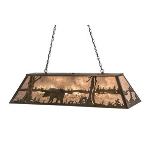 Meyda Tiffany Bear at Lake 9-Light Pendant