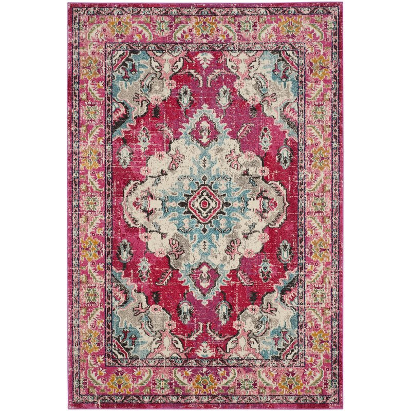 Tibbetts Pink Area Rug