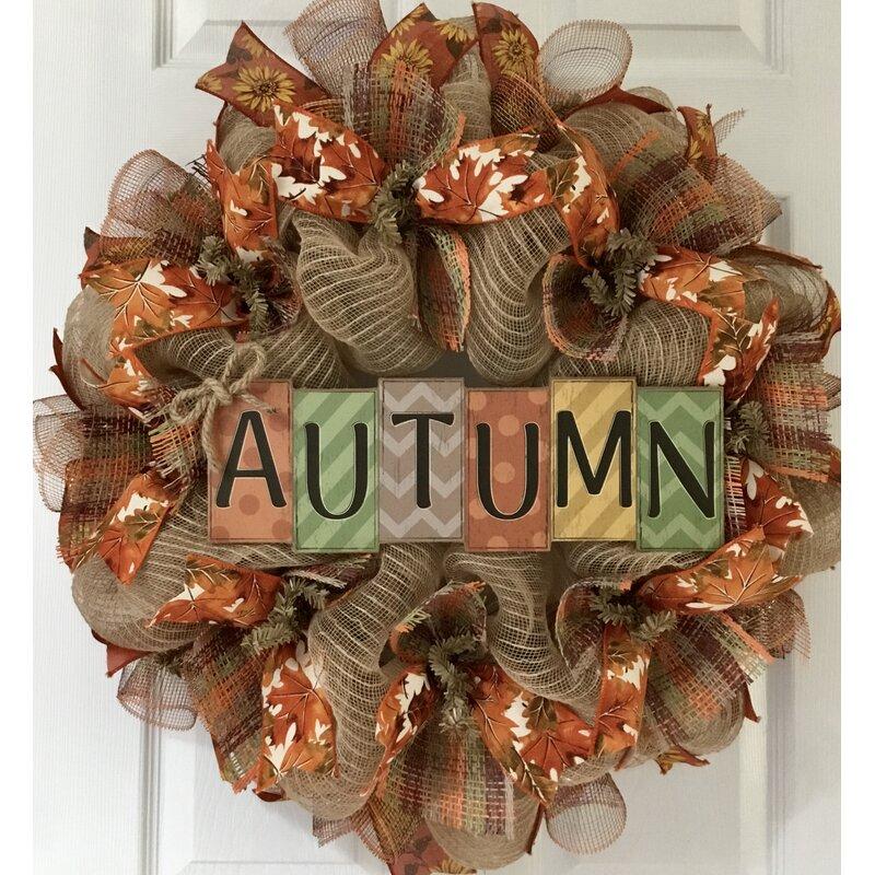 HALLOWEEN BURLAP WREATH Burlap Wreath w Trick orTreat Sign ChevronStripe Bow..Fall Door Wreath Halloween Decor Wreath Seaonal Decor Wreath