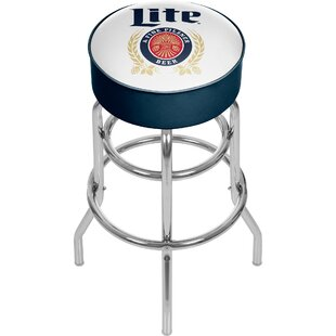 Miller Lite Retro 31 Swivel Bar Stool Trademark Global