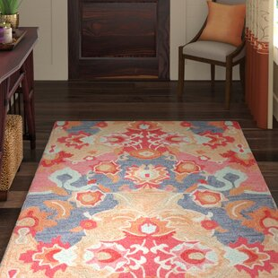 Best Reviews Maastricht Blue/Red Area Rug By World Menagerie