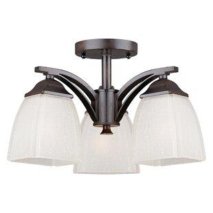 Top Reviews Lund 3-Light Semi Flush Mount By Ebern Designs
