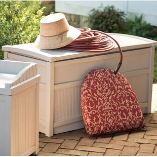 Plow & Hearth Weather-Resistant Maintenance-Free Resin Deck Box with Stay Dry Lid