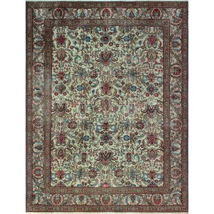 One-of-a-Kind Alvares Distressed Hand-Knotted Wool Ivory Area Rug ByIsabelline