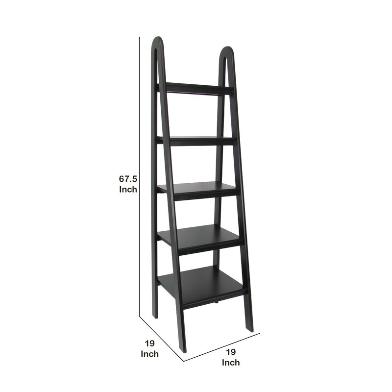 "Latitude Run 67.5"" H x 19"" W Wooden Storage Shelf Ladder 