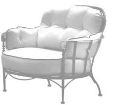Meadowcraft Athens Deep Seating Chair wit..
