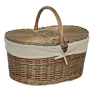Picnic Basket With Oatmeal Lining By Brambly Cottage