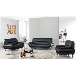 Arcadia Leather 3 Piece Living Room Set Part 49