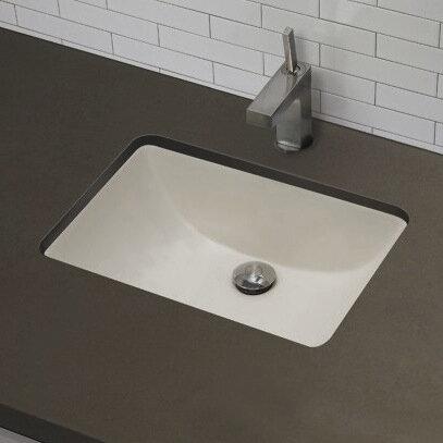 American Imaginations Ceramic Rectangular Undermount Bathroom Sink With Overflow Wayfair