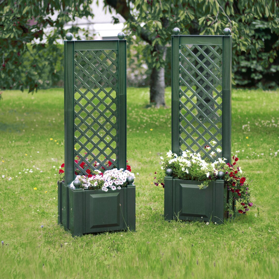 Plastic Planter Box with Trellis