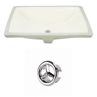 Best Reviews CSA Ceramic Rectangular Undermount Bathroom Sink with Overflow ByRoyal Purple Bath Kitchen