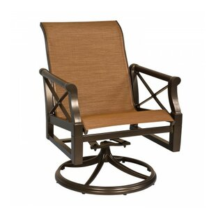 Andover Sling Rocker Swivel Patio Dining Chair
