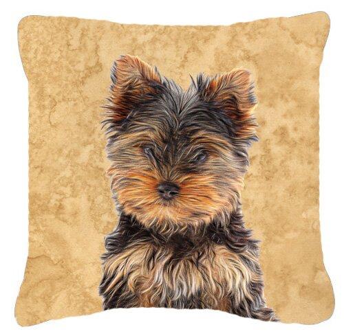 East Urban Home Yorkie Puppy Yorkshire Terrier Indoor Outdoor Throw Pillow Reviews Wayfair Ca