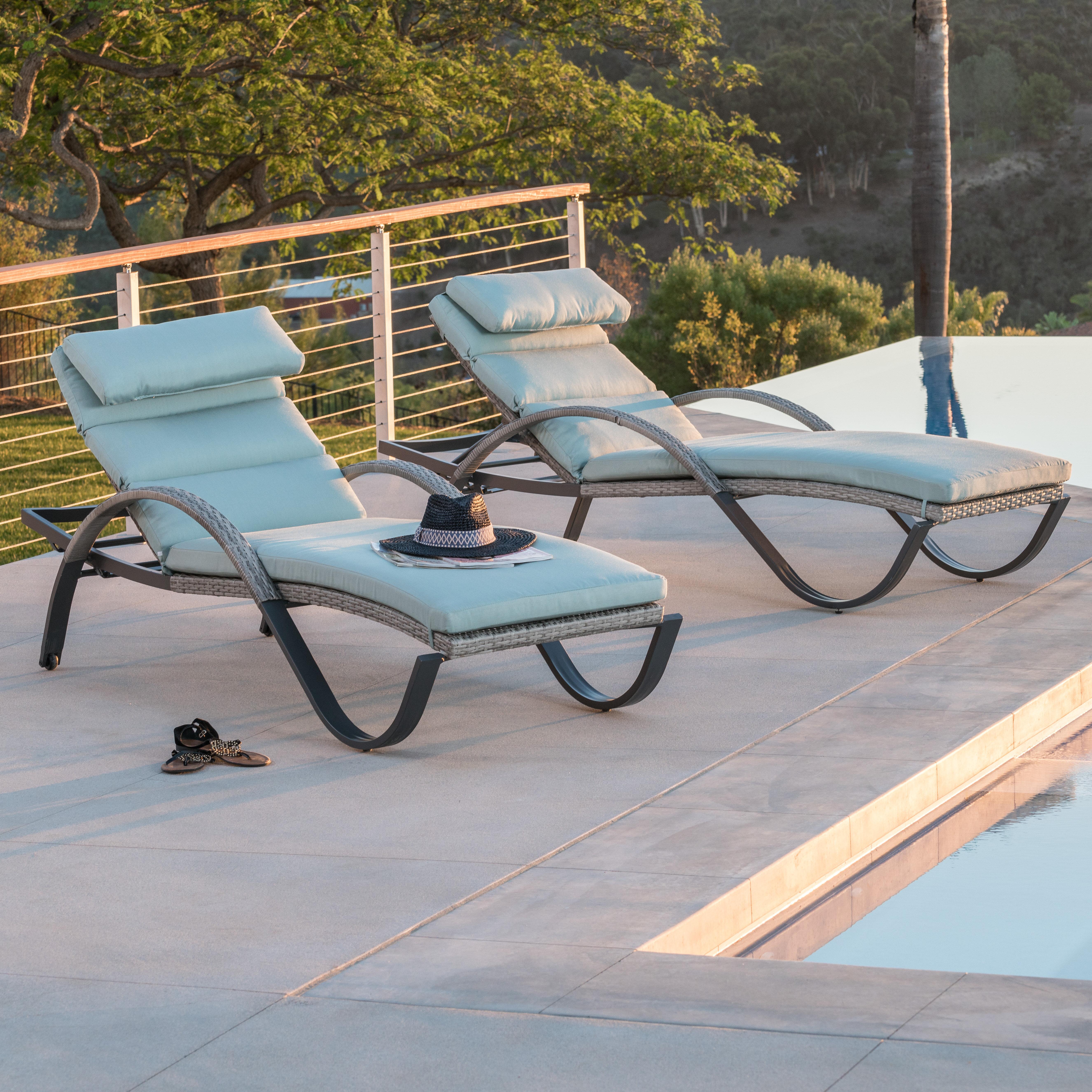 Wade Logan Castelli Sun Lounger Set With Cushions Reviews Wayfair Ca