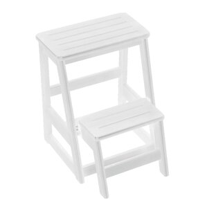 Levi Folding 2-Step Wood Step Stool with 200 lb. Load Capacity  sc 1 st  Wayfair : stair step stool - islam-shia.org