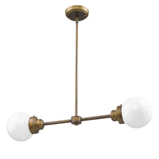 George Oliver Weisberg 2-Light Chandelier
