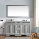 Tilden 60 Double Bathroom Vanity Set with Mirror by House of Hampton