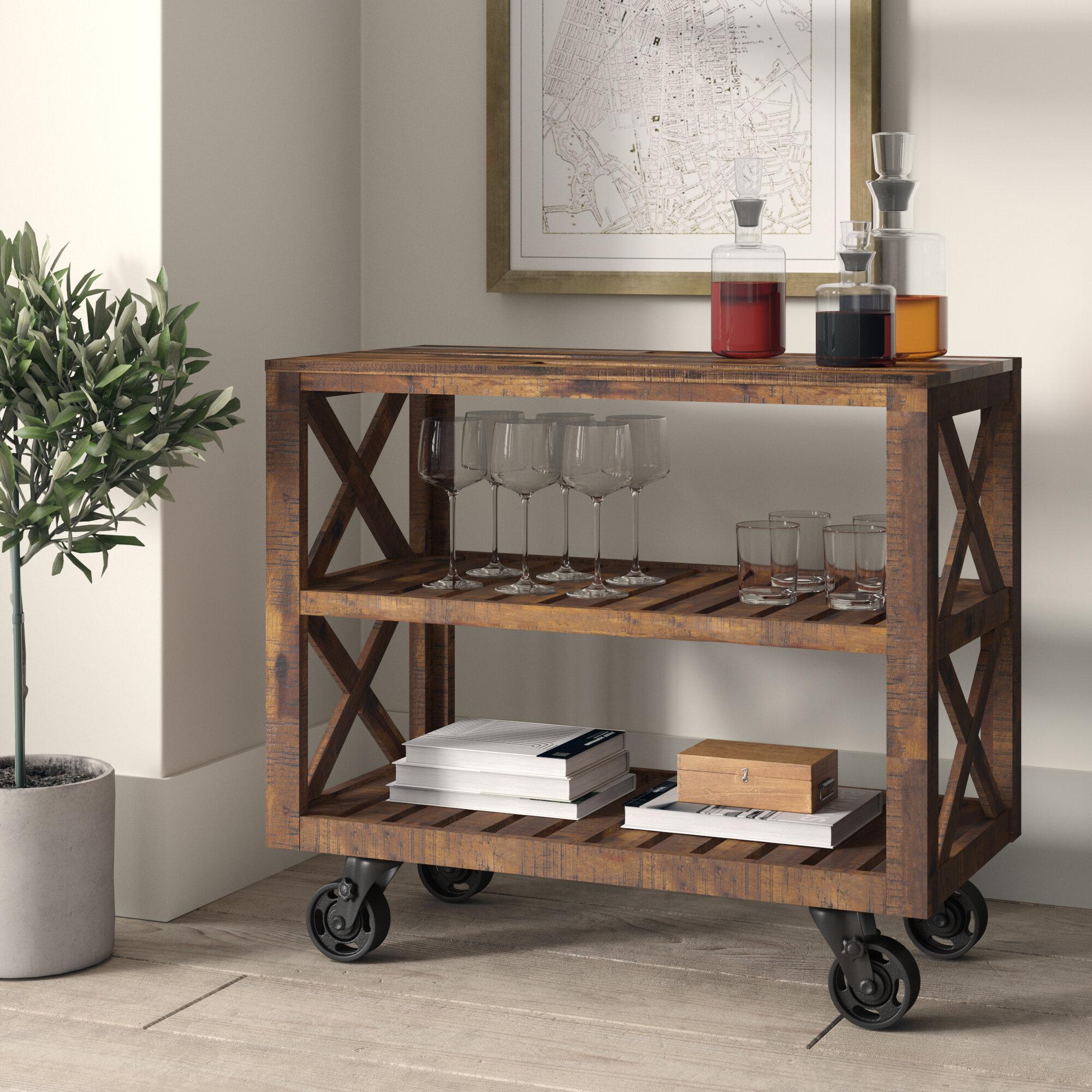 Telfair Rectangular Bar Cart By Greyleigh