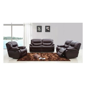 Cana 3 Piece Leather Living Room Set by Orre..