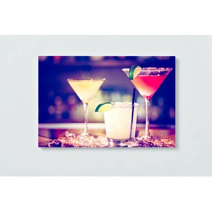 Cocktail Motif Magnetic Wall Mounted Cork Board By Ebern Designs