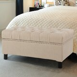 Mikell Upholstered Flip Top Storage Bench by Alcott Hill®
