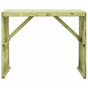 Ayon Wooden Bar Table By Sol 72 Outdoor