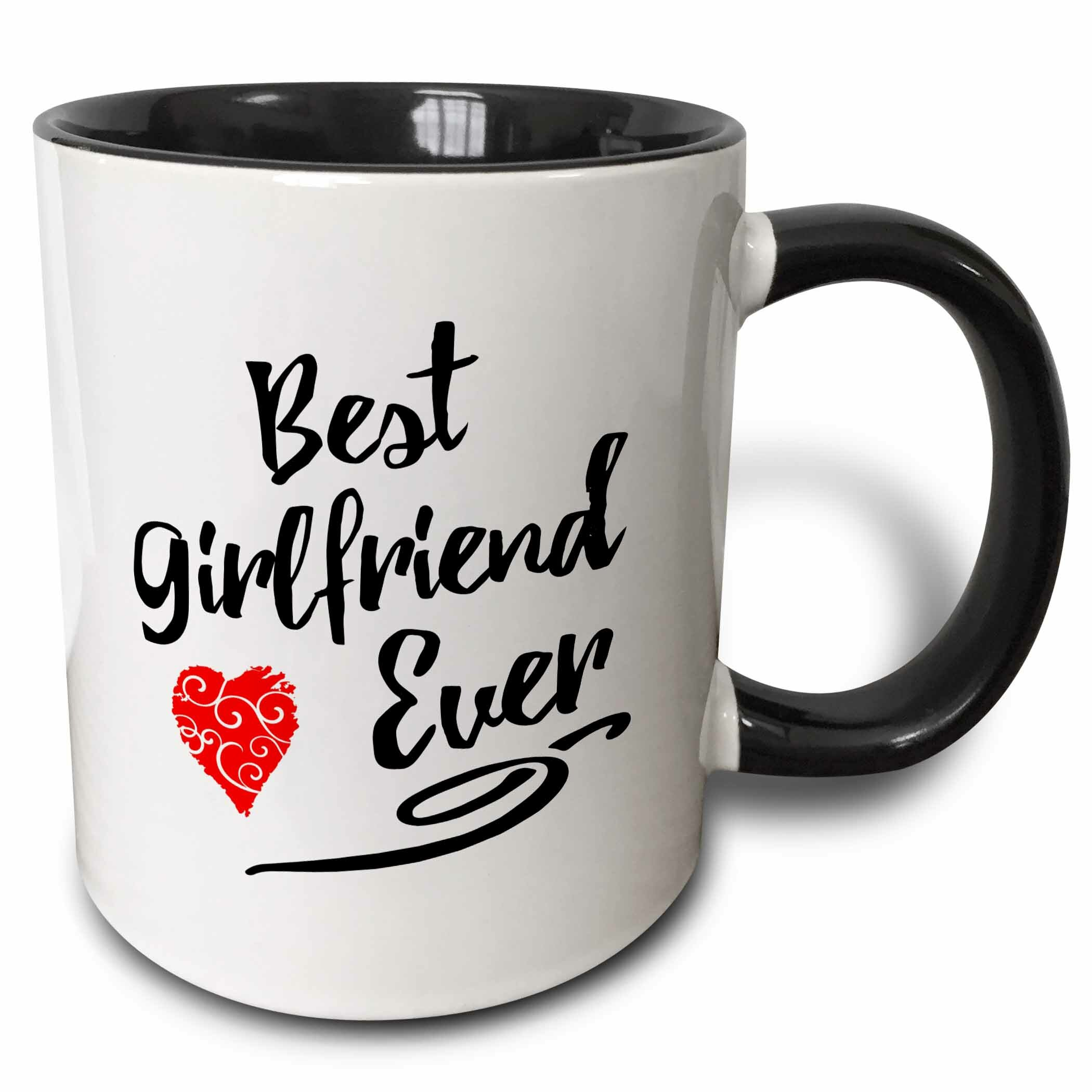 Symple Stuff Hideaway Typographic Best Girlfriend Ever Design Coffee Mug Wayfair