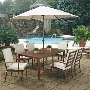 Mauricio 9 Piece Dining Set with Cushion