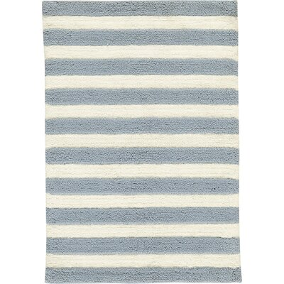 Birch Lane™ Heritage Serenity Handwoven Slate/Ivory Area Rug Rug Size: Rectangle 3' x 5'