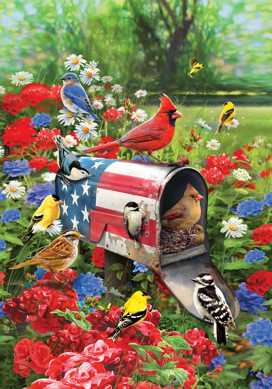 Custom Decor Songbirds Mailbox 2 Sided Polyester 40 X 28 In House Flag Wayfair