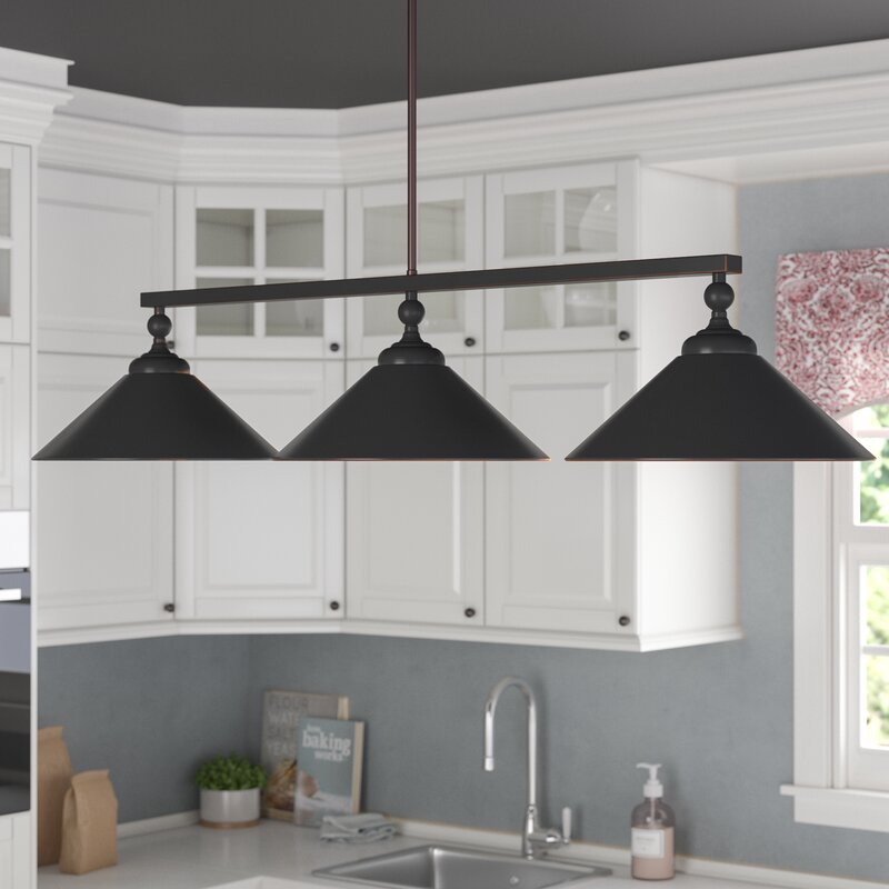 3 light kitchen island pendant black debra 3light kitchen island pendant laurel foundry modern farmhouse