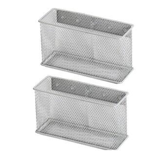 Rebrilliant Biggerstaff Wire Mesh Magnetic Storage Basket (Set of 2)