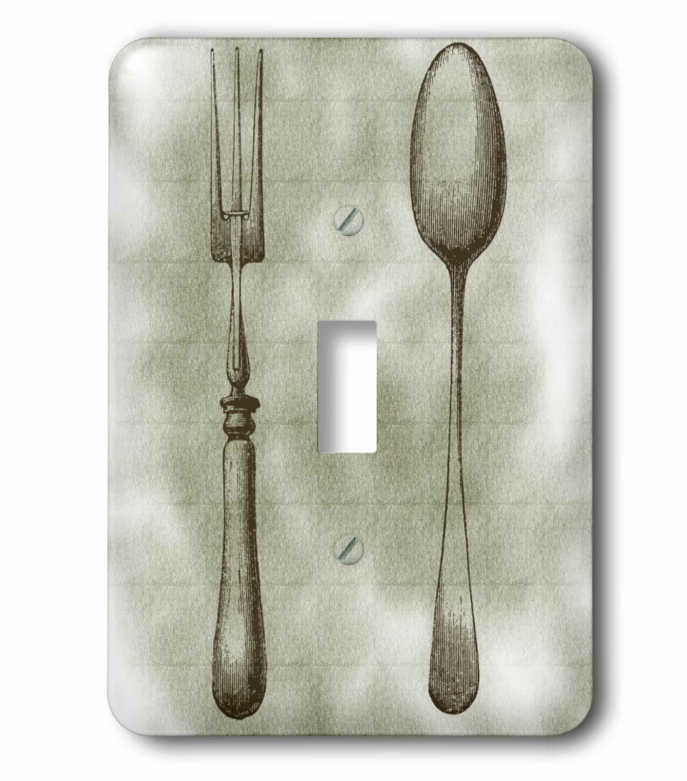 3drose Fork And Spoon Kitchen Décor And Art 1 Gang Toggle Light Switch Wall Plate Wayfair
