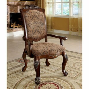 Barrville Upholstered Arm Chair in Light brown Set of 2