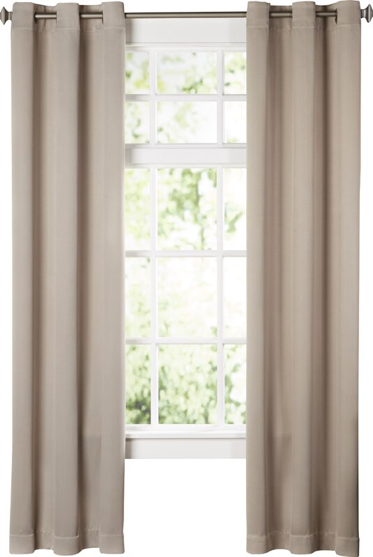curtains for living room window. Wayfair Basics Solid Blackout Grommet Single Curtain Panel Curtains  Drapes You ll Love
