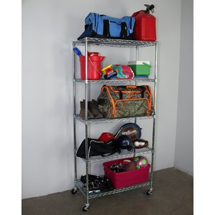 SafeRacks 5-Tier Wire Shelving Unit with Wheels