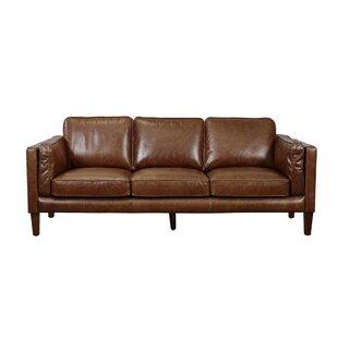 Union Rustic Shelli Leather Sofa