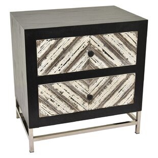 Mcgarvey Wood and Metal 2 Drawer Accent Chest by Ivy Bronx