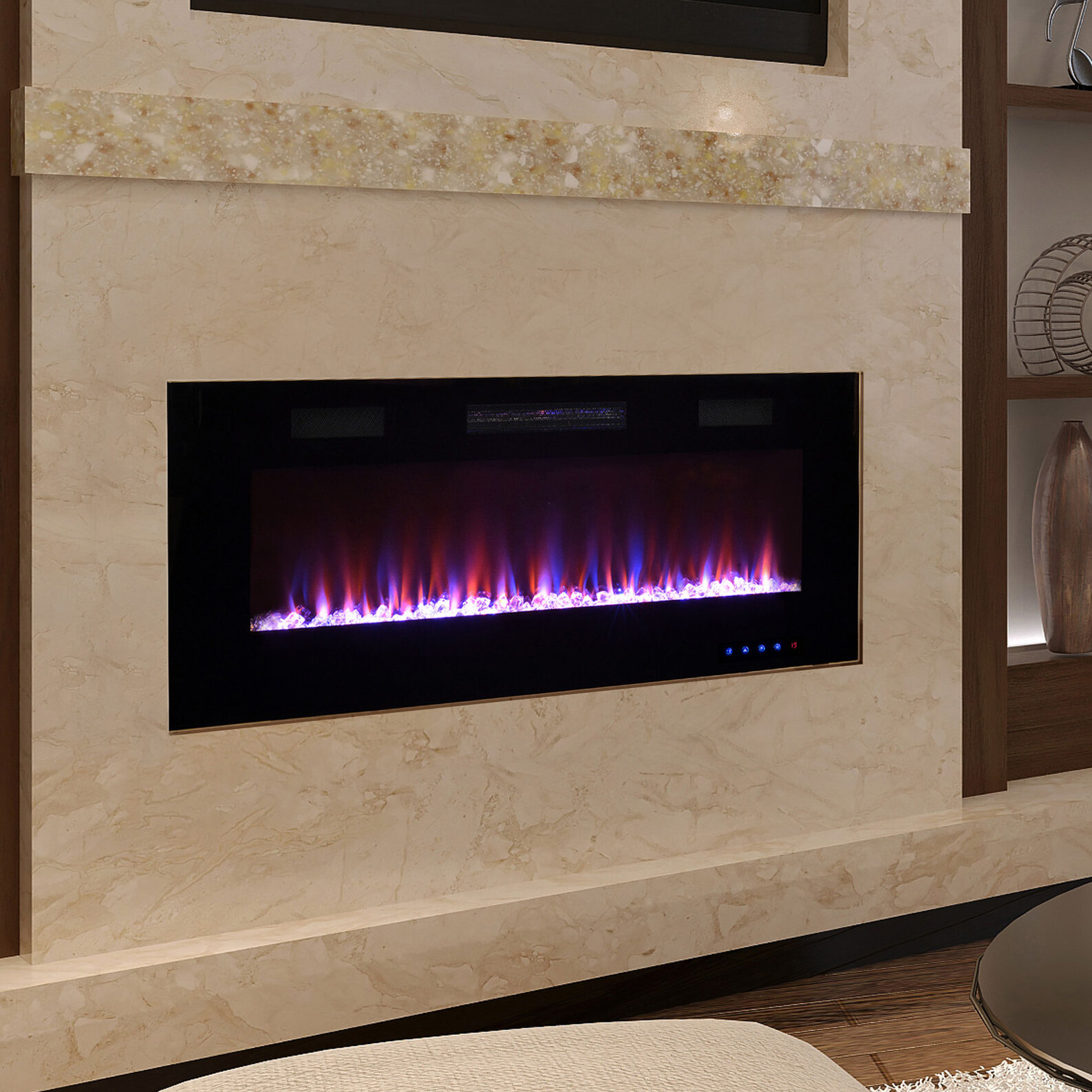 Pacific Heat Recessed Wall Mounted Electric Fireplace Reviews Wayfair