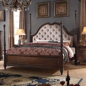 Wentzel Upholstered Four Poster Bed by Astoria Grand