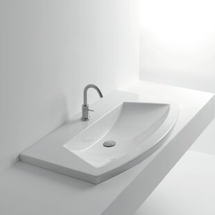 Whitestone Ceramic Specialty Drop-In Bathroom Sink By WS Bath Collections