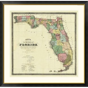 Map Of The State Of Florida.State Florida Wall Art Wayfair
