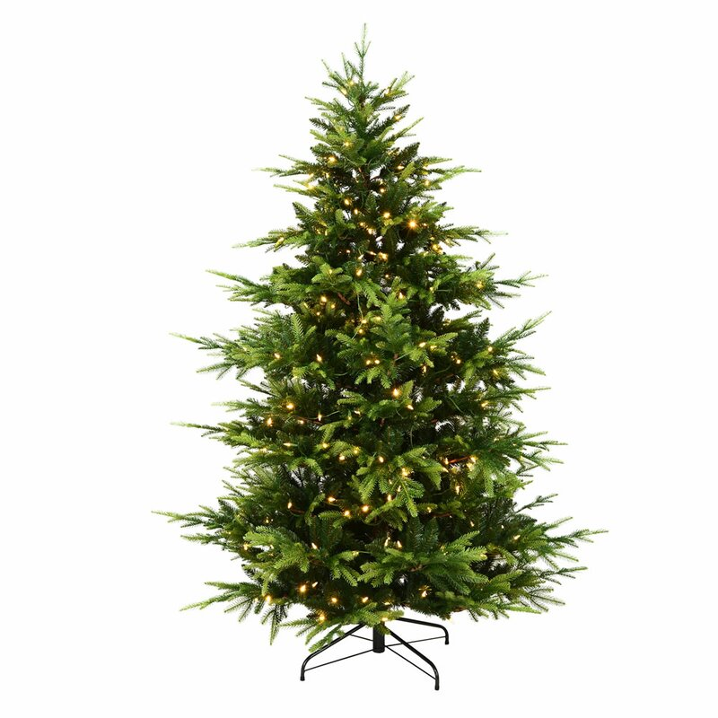 The Seasonal Aisle Brecon Spruce 7ft Green Pine Artificial ...