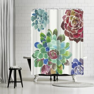 East Urban Home PI Creative Art Water Succulents I Shower Curtain
