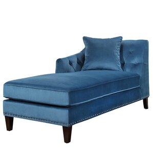 Macdonald Velvet Chaise Lounge  sc 1 st  Wayfair.com : blue chaise lounge - Sectionals, Sofas & Couches