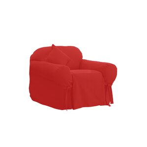 Cotton Duck Box Cushion Armchair Slipcover by Sure Fit