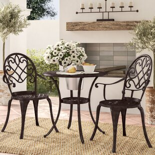 Alcott Hill Chestnut Street 3 Piece Bistro Set