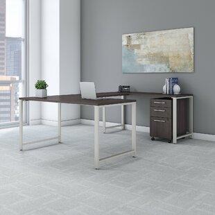 Bush Business Furniture 400 Series U-Shape Desk Office Suite