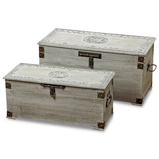 Gwenda Steamer 2 Piece Trunk Set by Bungalow Rose